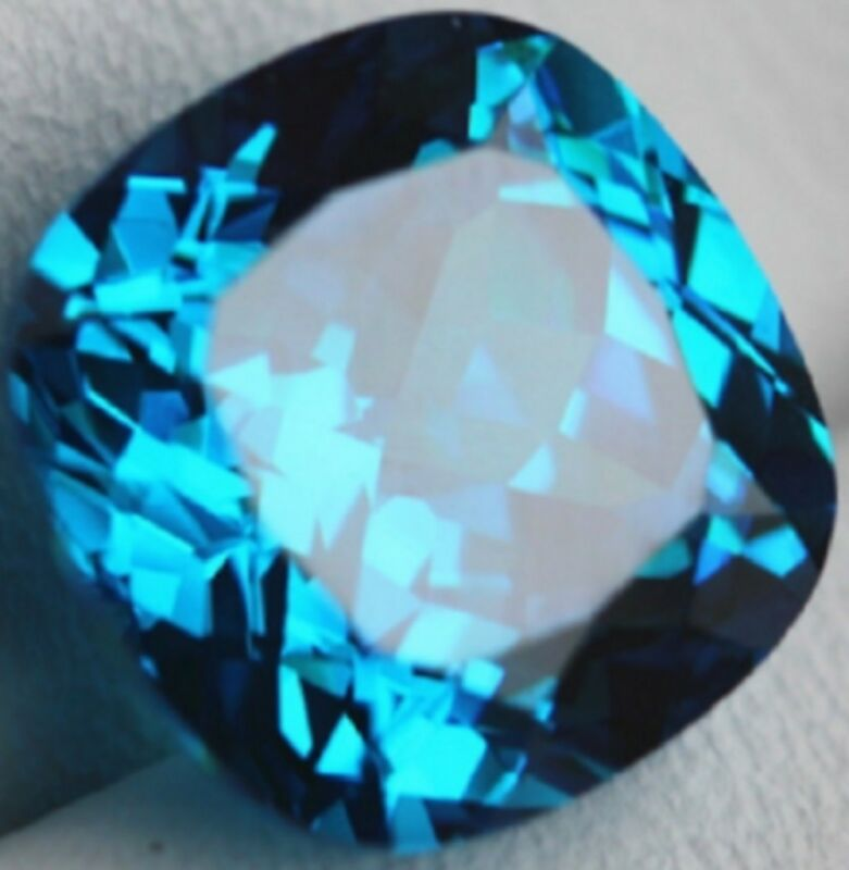 8.71 Carats Blue Zircon Sapphire Unheated Ceylon Cushion Shape 10x 10mm Gemstone • 7.47$