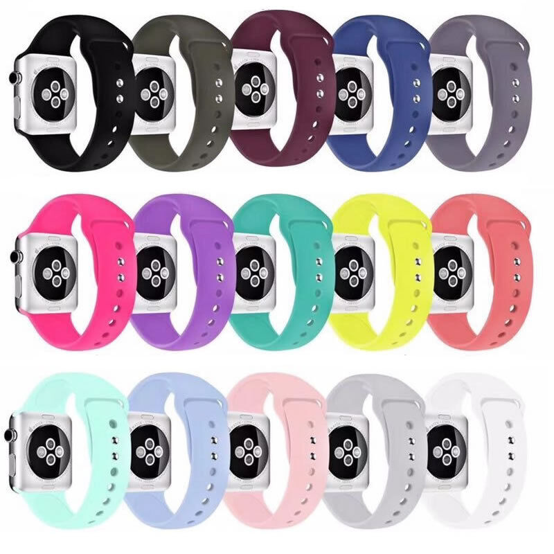 $ CDN6.56 • Buy Silicone Sports Bands Straps For Apple Watch IWatch Series 4 3 2 1 38/42/40/44mm