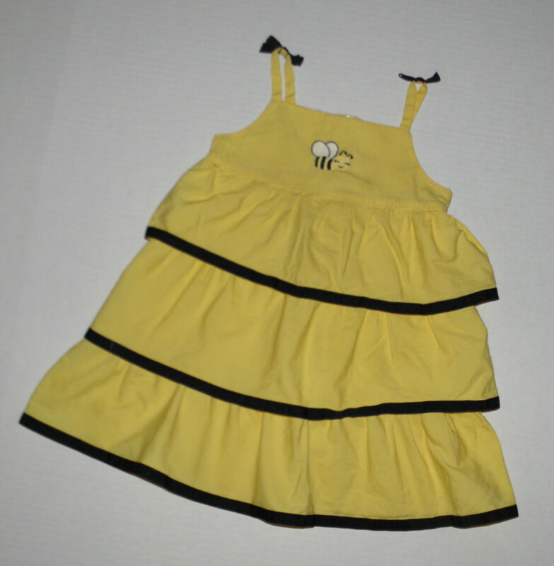 $11.99 • Buy Gymboree Bee Chic Yellow & Black Bumble Bee Ribbon Dress 3t 3 Cotton Summer
