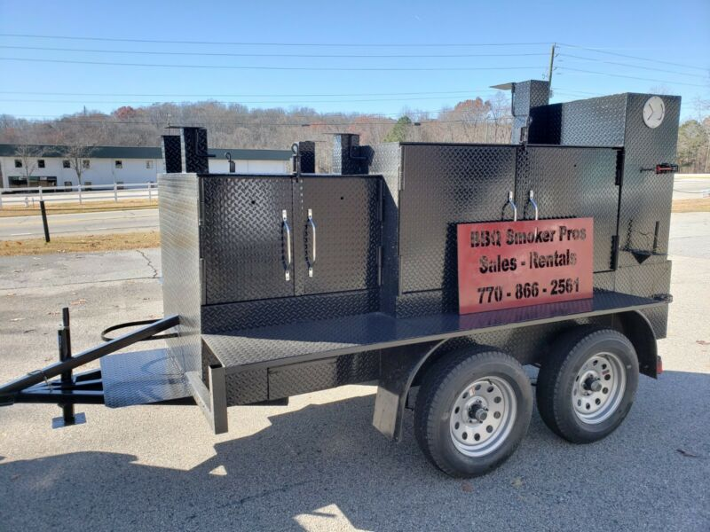 Rotisserie Pro Double Gril Master BBQ Smoker Grill Trailer Food Truck Concession • 7,499$