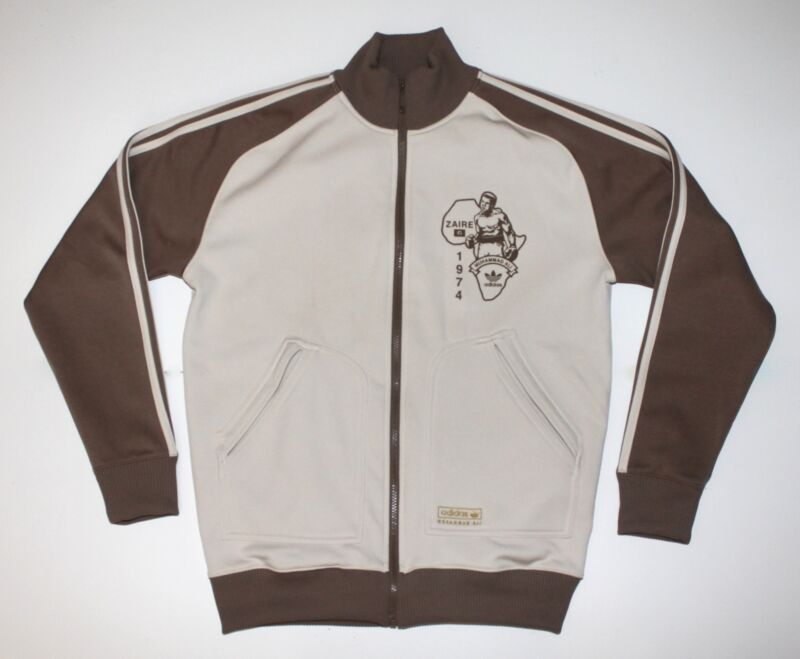 Adidas Muhammed Ali Zaire 1974 Retro Track Jacket Size Small Pre-Owned • 60$