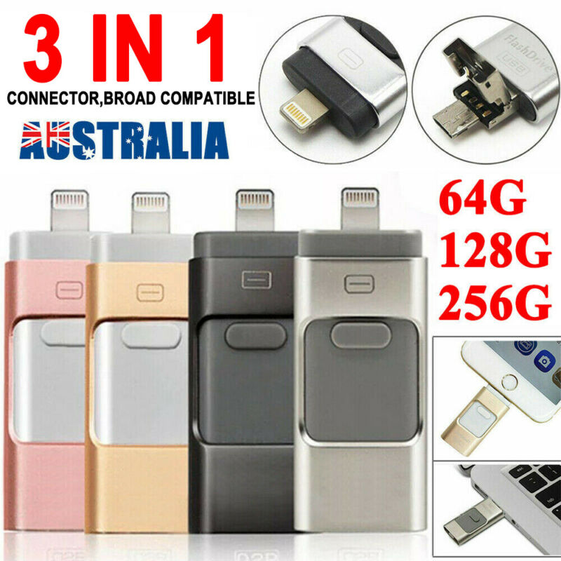 AU25.99 • Buy 256GB USB I Flash Drive Disk Storage Memory Stick For IPhone IPad PC IOS Android