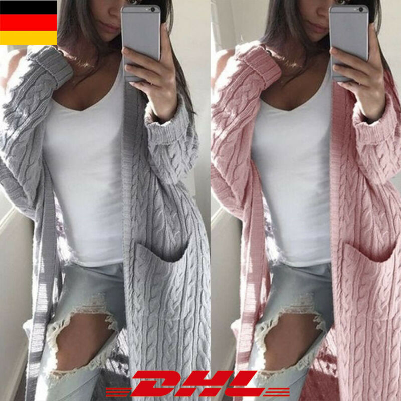 super popular 57e62 99b05 Lange Strickjacken Damen Rosa