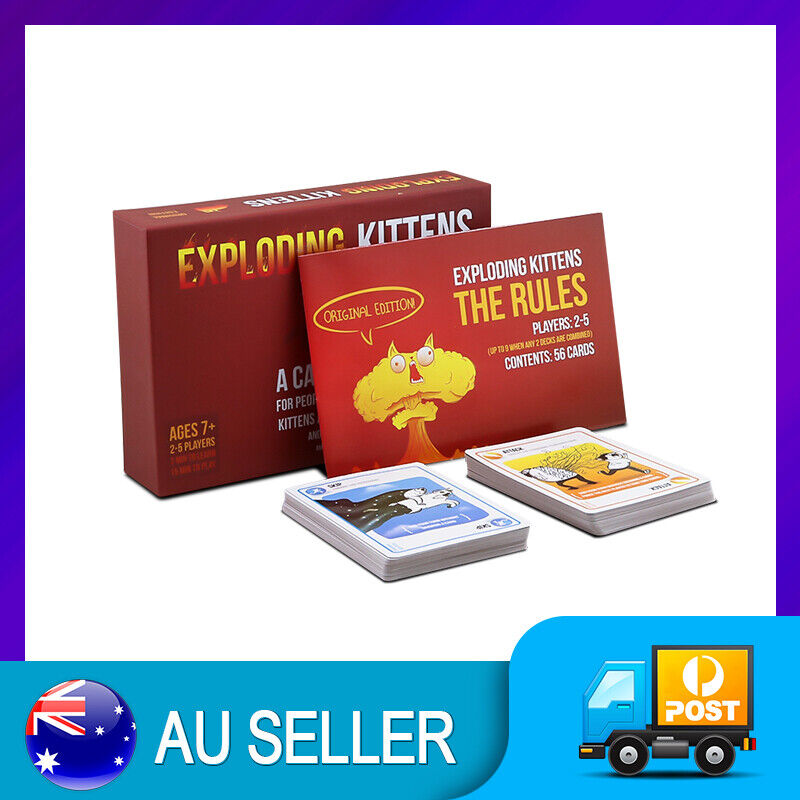 AU12.98 • Buy EXPLODING KITTENS Original Edition Card Party Family Game Goats NEW GIFT NEW AU