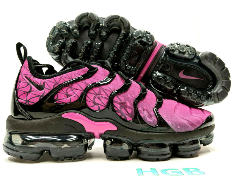Nike Air Vapormax Plus Men's Black Fuchsia Pink Running Training 924453-603 NIB • 128.95$