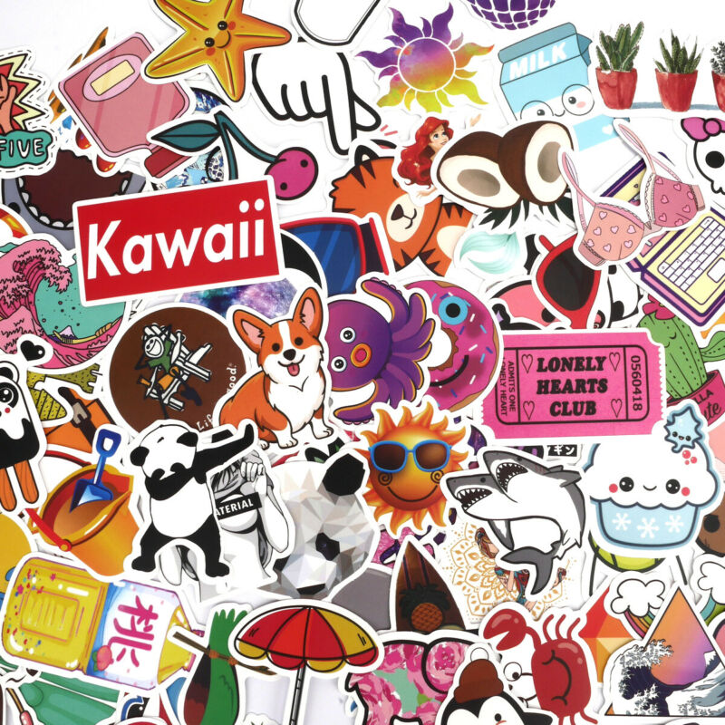 $6.79 • Buy 100 Random Laptop Stickers For Hydro Flask VSCO Girl Decals Skateboard Suitcase