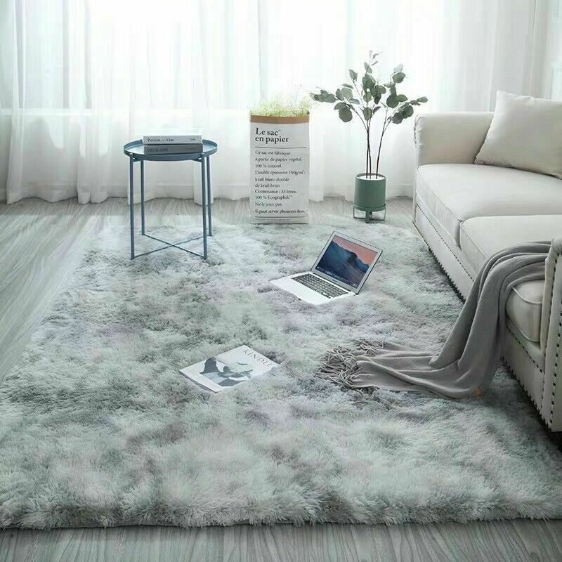 AU24.98 • Buy 1.6x2.3m Hairy Shaggy Fluffy Rug Living Room Bedroom Carpet Mat Soft Home Decor