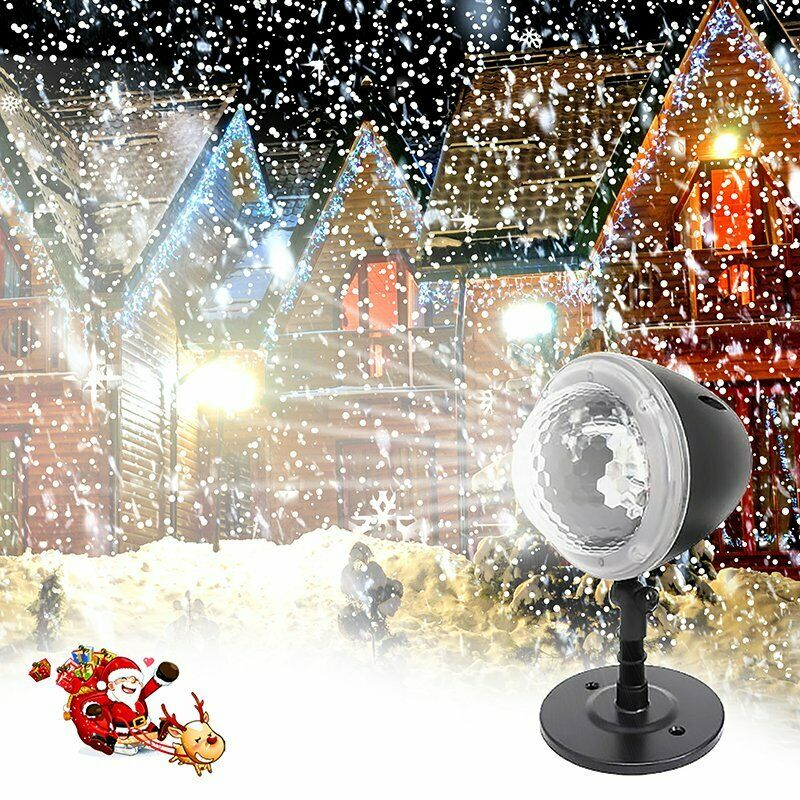 Snowfall LED Light Snowflake Projector Lamp For Christmas Indoor Outdoor Decor • 24.99$