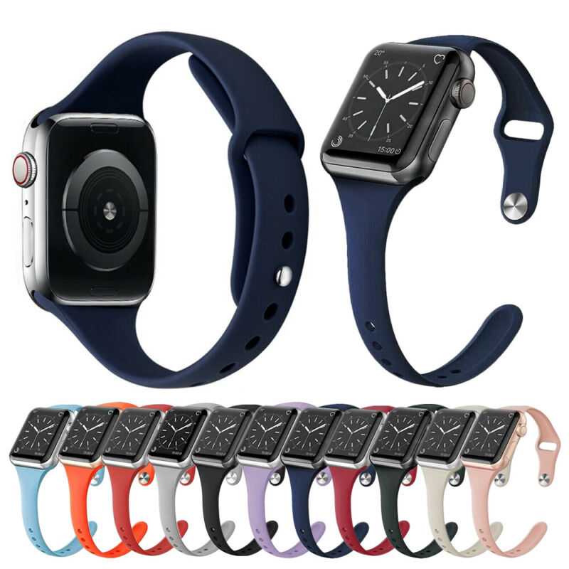 $ CDN5.25 • Buy For Apple Watch Series 5 4 3 2 Silicone Soft Sport Strap IWatch Bands Breathable