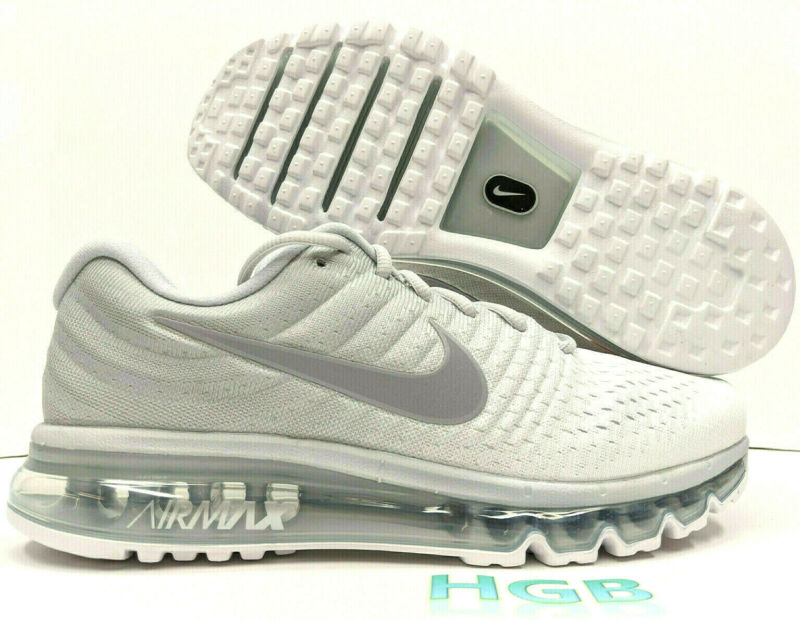$114.95 • Buy Nike Air Max 2017 Men's Pure Platinum Grey Running Training Gym 849559-009 NIB
