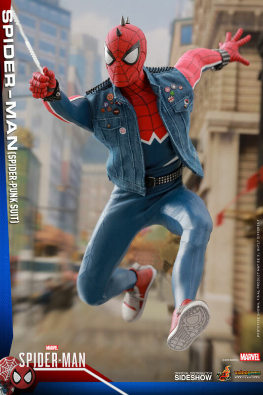HOT TOYS Spider-Man Spider-Punk Sixth Scale Figure MINT! New In Box! • 102.50$