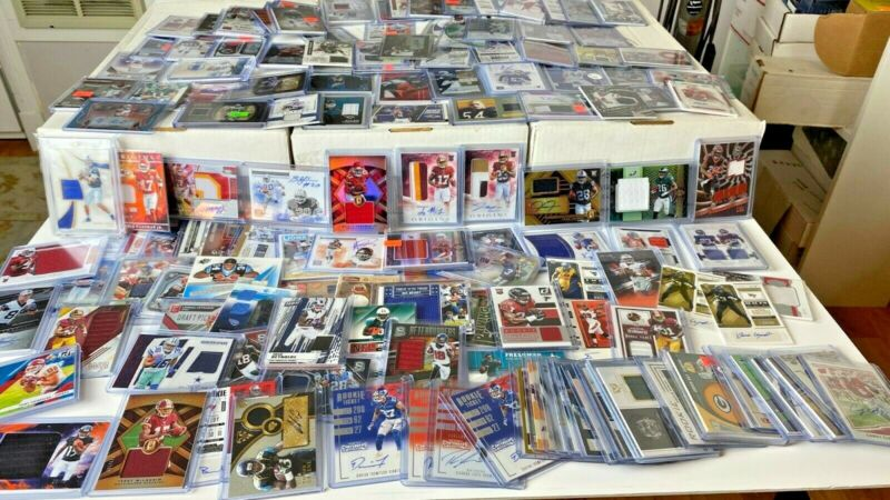 $19.99 • Buy (25) SUPER Football Hot Pack Card Lot! AUTO, Jersey, PATCH, RC, Prizm, & BONU$!