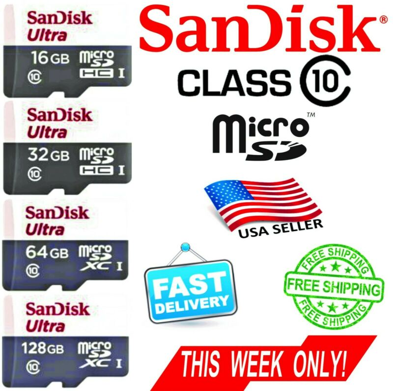 $5.65 • Buy SANDISK 16GB 32GB 64GB   Ultra Micro SD Card Class10 80MB/s BEST PRICE + ADAPTER