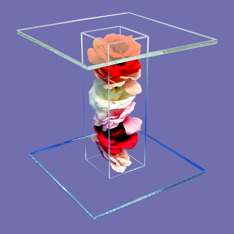$21.55 • Buy Flower Acrylic Pedestal Stand Riser Table Wedding Receptions Events Made In USA