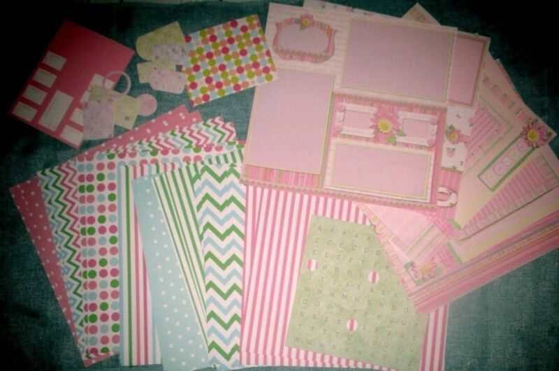 $16.99 • Buy CLEARANCE Scrapbooking Lot Baby Girl 23 12 X 12 Paper 20 Tag Borders Abc Letters