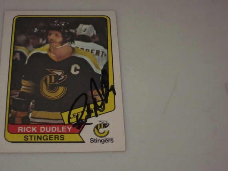 $17 • Buy Rick Dudley Autographed 1976-1977 Opc O-pee-chee Wha Card