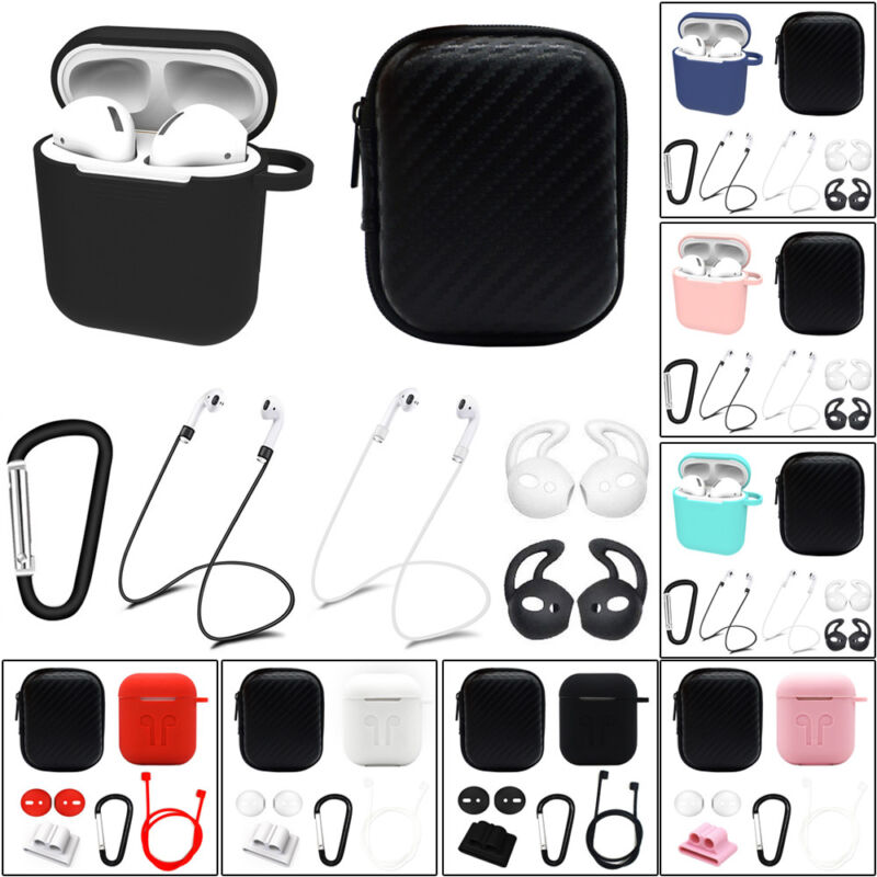 $ CDN5.59 • Buy For Apple AirPods Accessories Silicone Cover Case+Anti Lost Strap+Ear Cover Hook