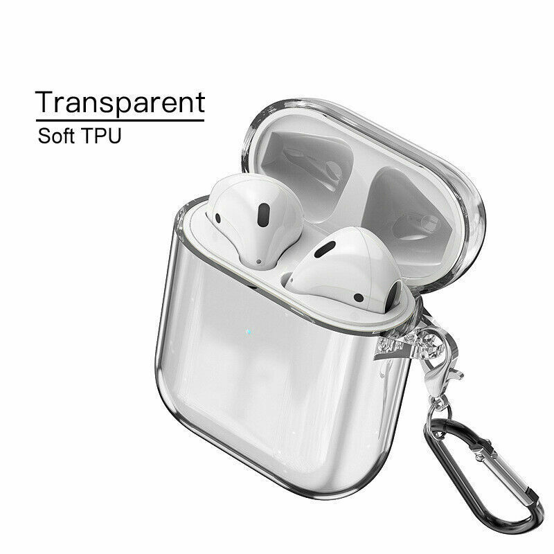 $ CDN4.31 • Buy For Apple AirPods Accessories Clear Crystal Case AirPod Soft TPU Cover Protector