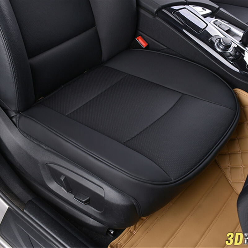 $ CDN31.54 • Buy PU Leather Deluxe Car Cover Seat Protector Cushion Black Front Cover Universal