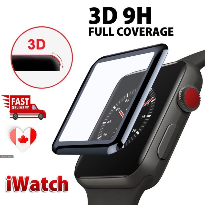 $ CDN6.99 • Buy For Apple Watch Series 38mm/40mm/42mm/44mm 3D Tempered Glass Screen Protector