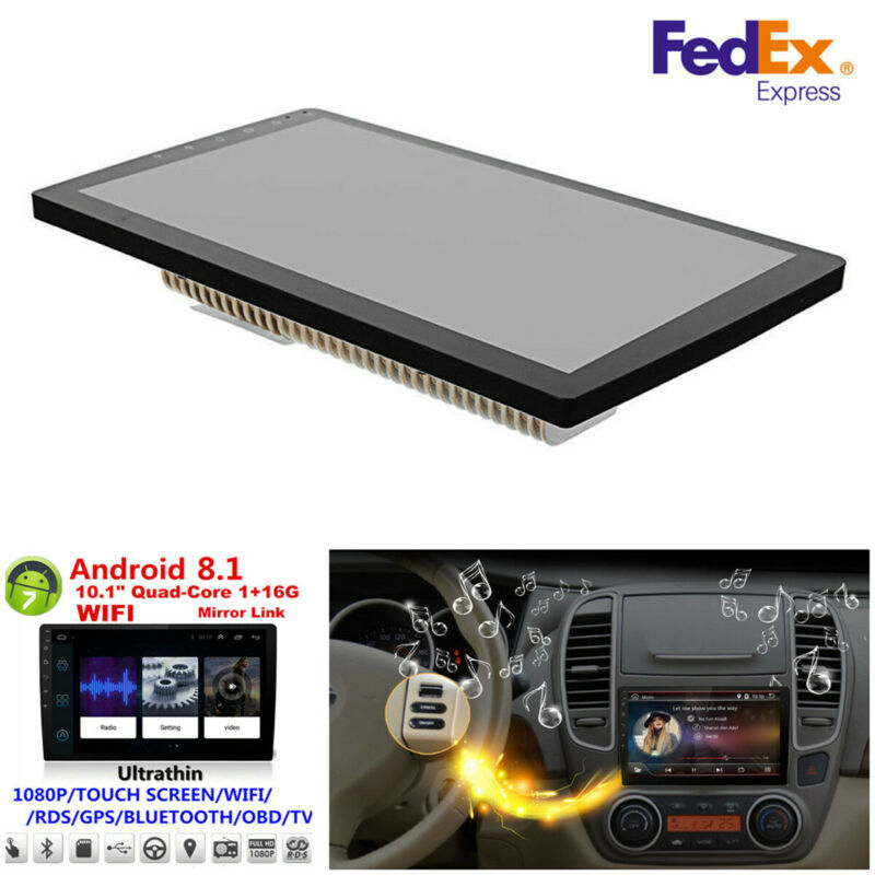$92.99 • Buy 10.1  Android 8.1 2DIN Touch Car Stereo Radio MP5 Player WiFi GPS Navigation-USA