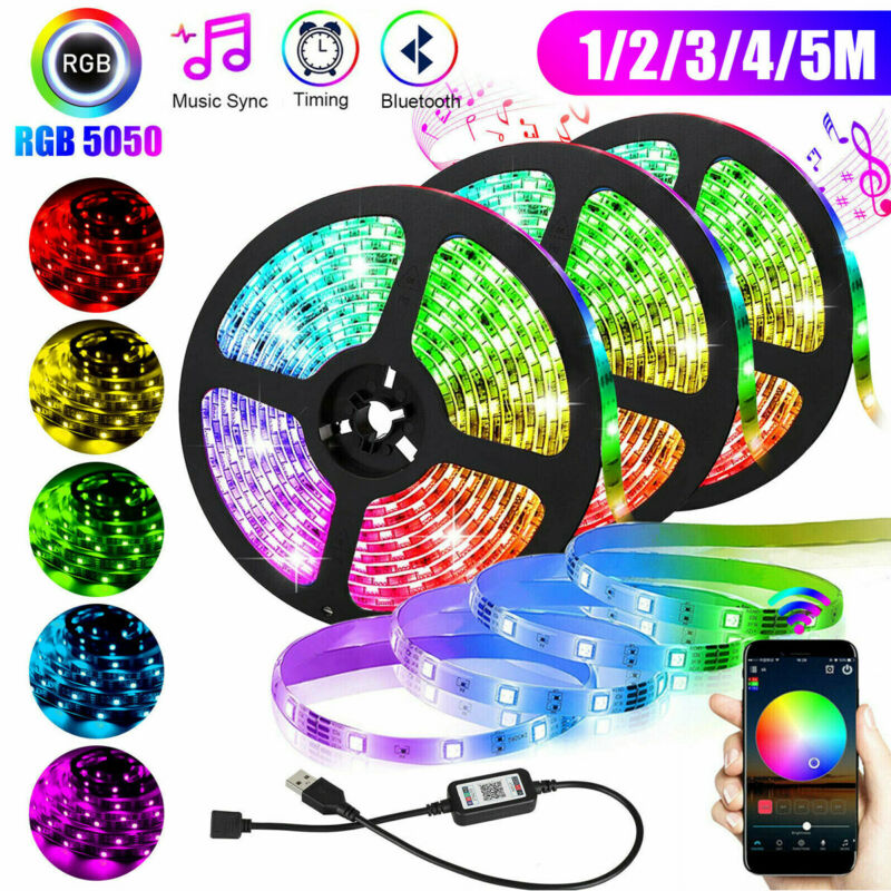 $13.10 • Buy Bluetooth Control Wireless Smart RGB LED Strip Light USB Powered Sync With Music