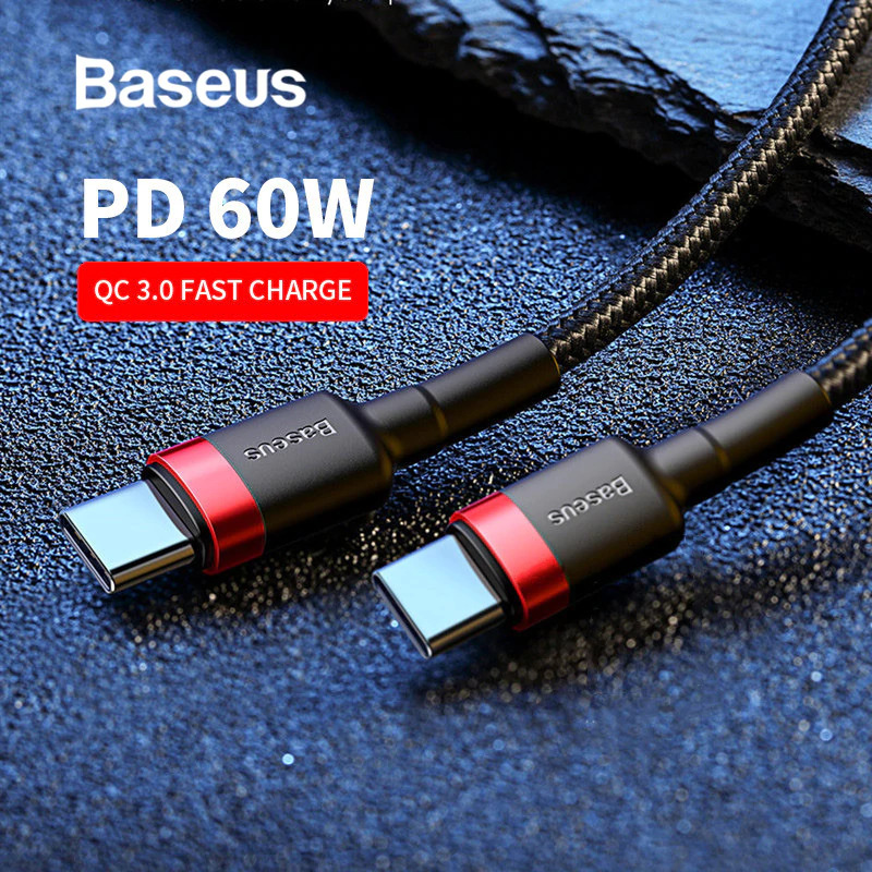 AU8.95 • Buy Baseus USB Type C To USB-C Cable QC3.0 60W PD Quick Charge Cable Fast Charging