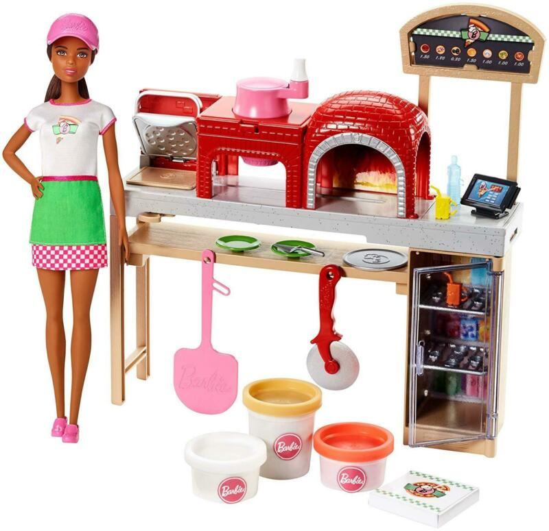 Barbie Pizza Chef Doll And Playset Brunette Mattel CHOP • 24.92$
