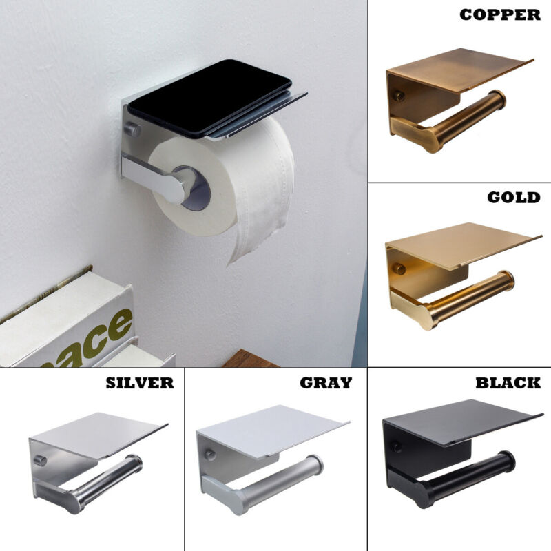 AU16.99 • Buy Toilet Paper Roll Phone Holder Home Bathroom Kitchen Wall Mounted Metal