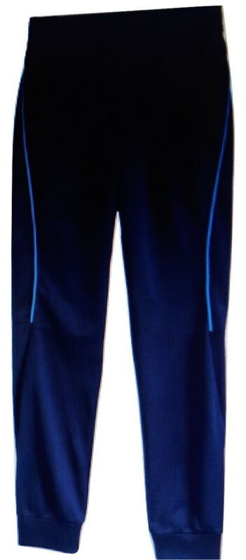 $15 • Buy BOYS Tek Gear Training Tricot Jogger Pants Navy Blue Stripe Size Large 14-16 NWT