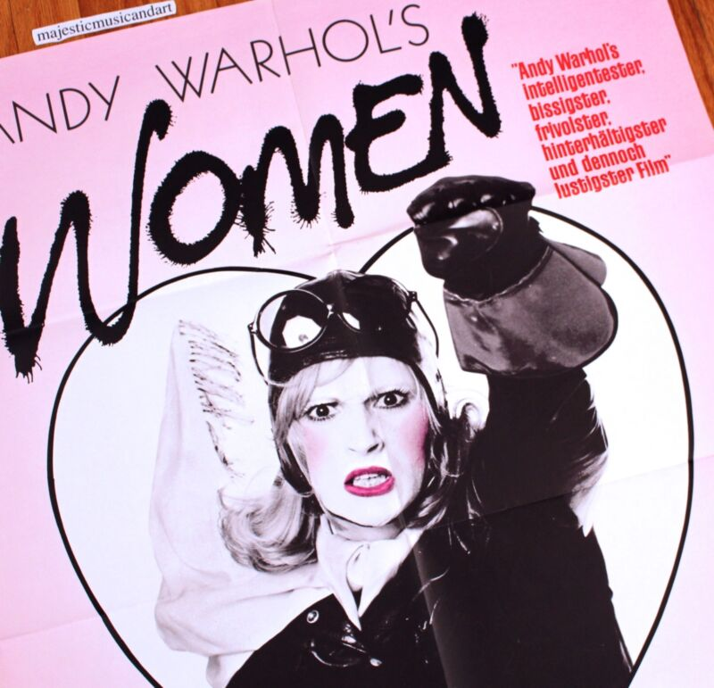 $250 • Buy Andy Warhol Candy Darling 1971 Original German Movie Poster Women In Revolt Rare