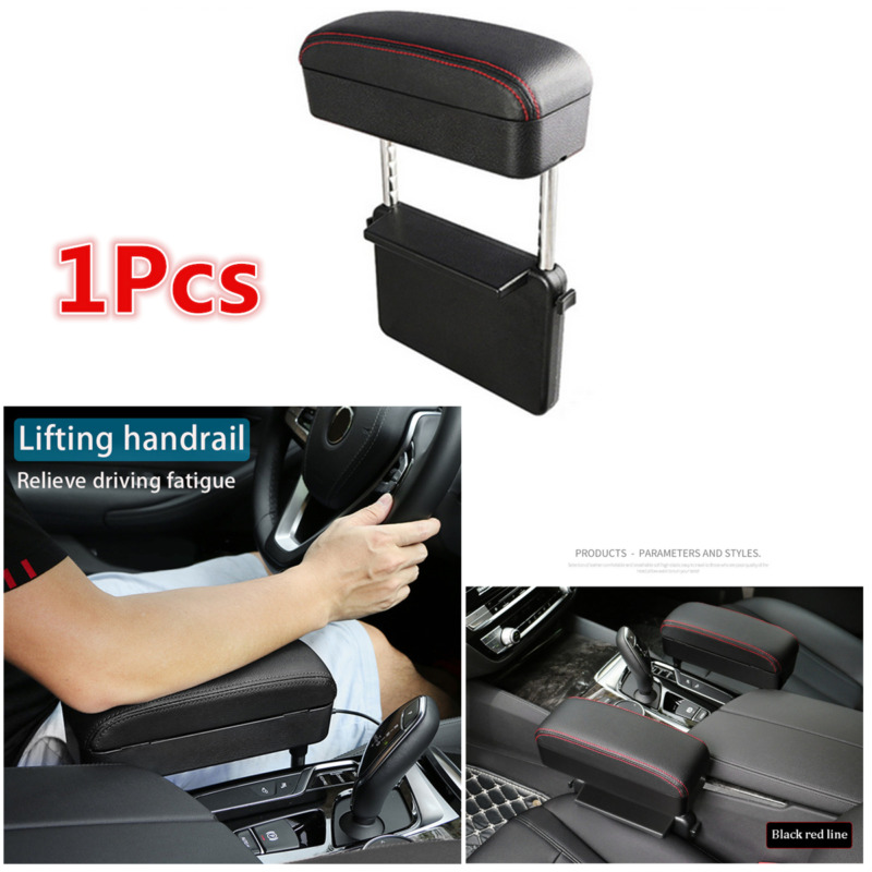 $ CDN46.11 • Buy 1Pcs Universal Car Center Console  Retractable PU Leather Armrest Storage Box