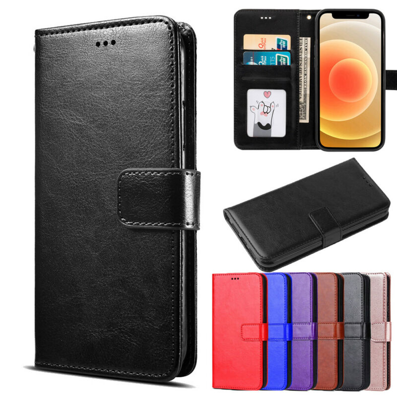 AU8.99 • Buy IPhone 11 Case Pro MAX IPhone 6 7 8 Plus Genuine Leather Wallet Flip Case Cover