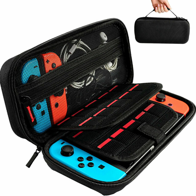 For Nintendo Switch Accessories Case Bag+Shell Cover+Charging Cable+Protector US • 12.99$