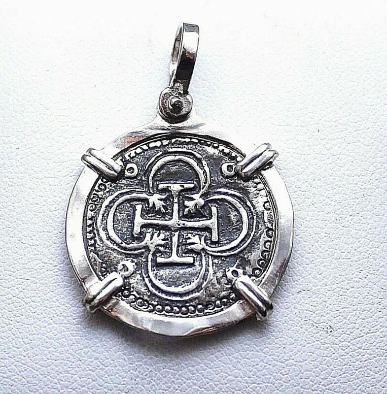ATOCHA Coin Pendant 925 Sterling Silver Sunken Treasure Shipwreck Coin Jewelry • 54$
