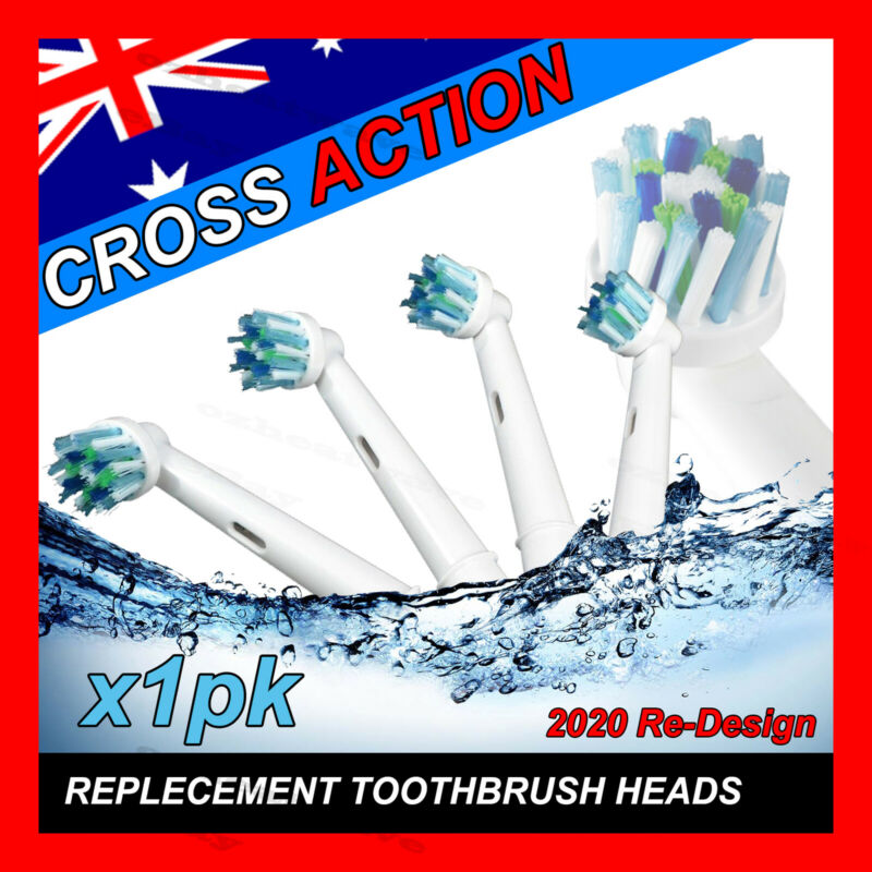 AU6.49 • Buy CROSS ACTION Oral B Compatible Electric Toothbrush Replacement Brush Heads X4
