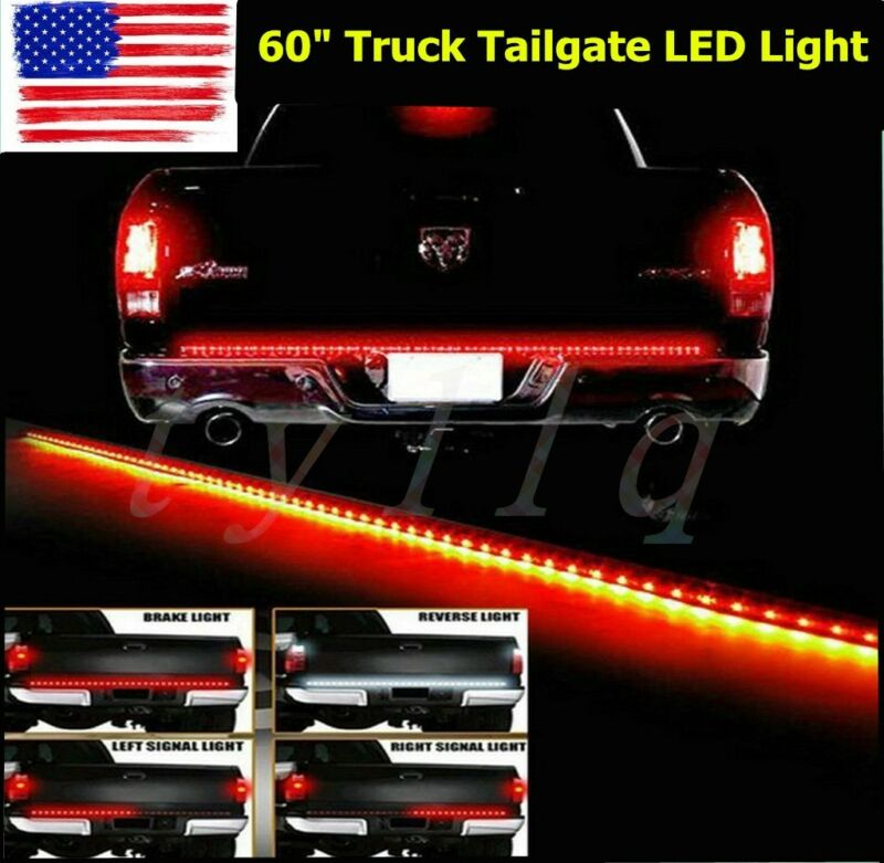 $11.99 • Buy 60  Flexible 5-Function Tailgate LED Strip Brake Signal Light Truck For SUV Jeep