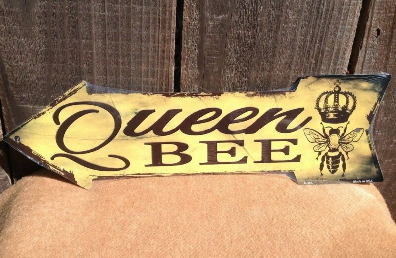 Queen Bee This Way To Arrow Sign Directional Novelty Metal 17  X 5  • 13.95$
