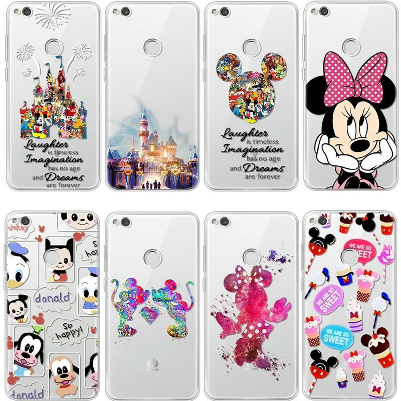 839337098fb Disney Mickey Minnie Soft Clear Case Cover For HUAWEI P20 P8 P9 Lite 2017  P10 •