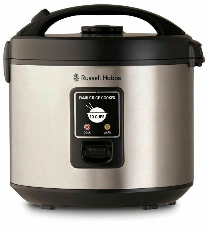 AU57 • Buy NEW Russell Hobbs 10 Cup Family Rice Cooker Stainless Steel RHRC1