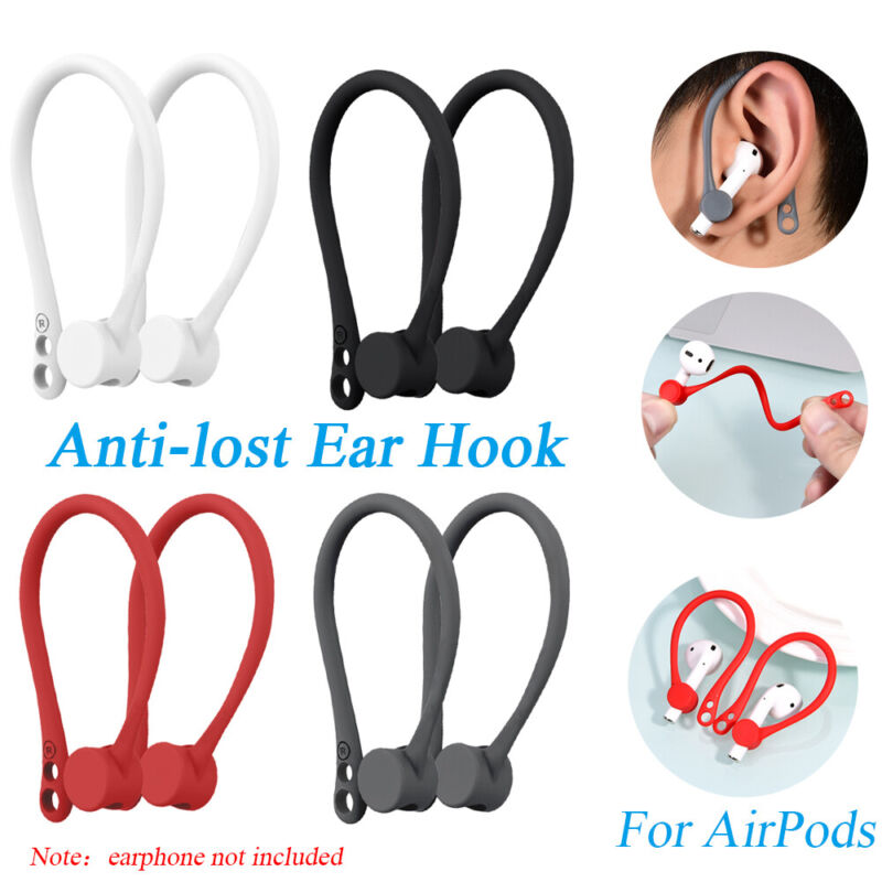 $ CDN1.91 • Buy For Apple AirPods Silicone Wireless Earphone Accessories Protector Earhooks-