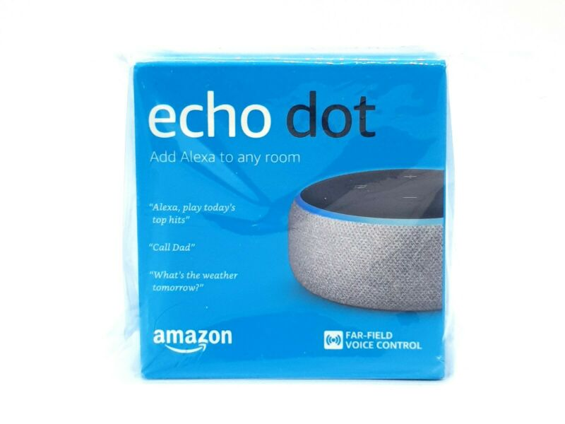 AU59.99 • Buy Amazon Echo Dot 3rd Generation Smart Assistant Heather Grey Fabric Speaker Alexa