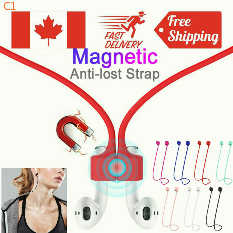 $ CDN8.45 • Buy Apple AirPods Earphone Magnetic Silicone Strap Anti-Lost Holder Wire Connector
