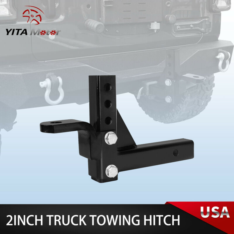10  Adjustable Ball Mount Trailer Drop Hitch Tow 2  Receiver Towing System Truck • 28.99$