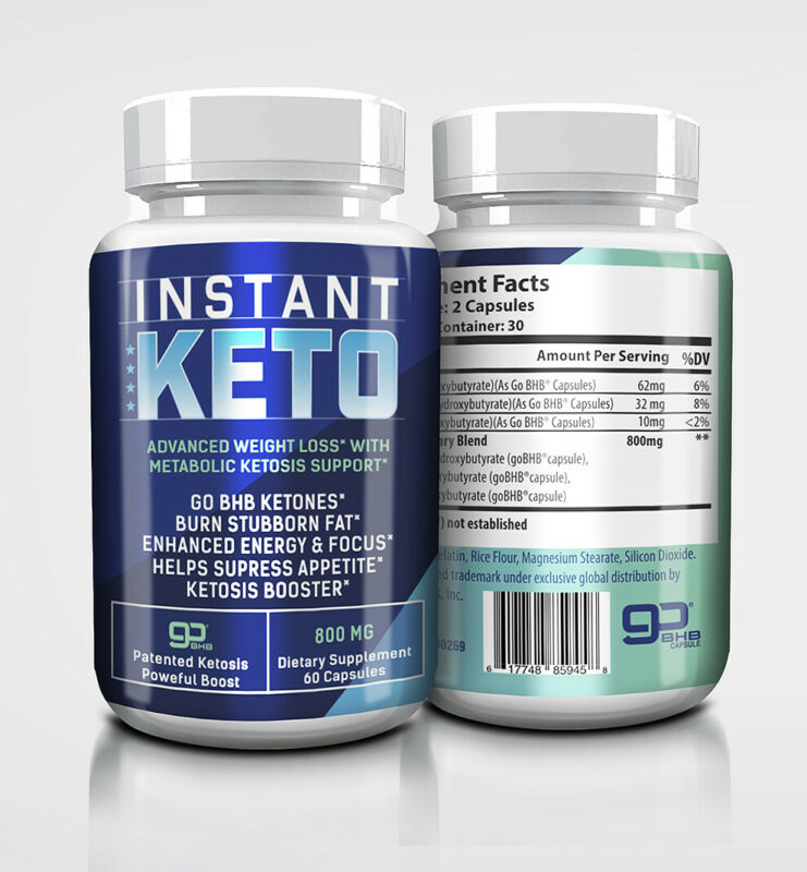 Instant Keto, Weight Loss Capsules, Burn Stubborn Fat , Ketosis Booster • 27.77$