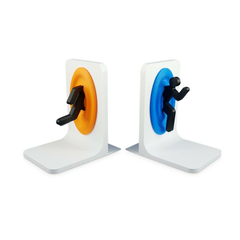 Portal Video Game Stand  Bookends • 23.34$