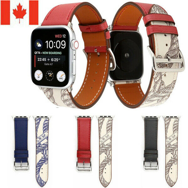 $ CDN10.99 • Buy  Leather Wrist Watch Band Strap For Apple Watch Series 5 4 3 2 1 38/40/42/44MM