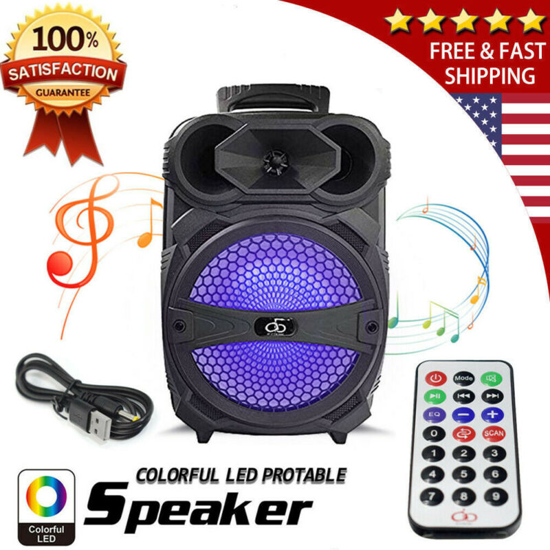 8  Party Bluetooth Speaker 1000 Watts System Led Portable Stereo Tailgate Remote • 32.49$