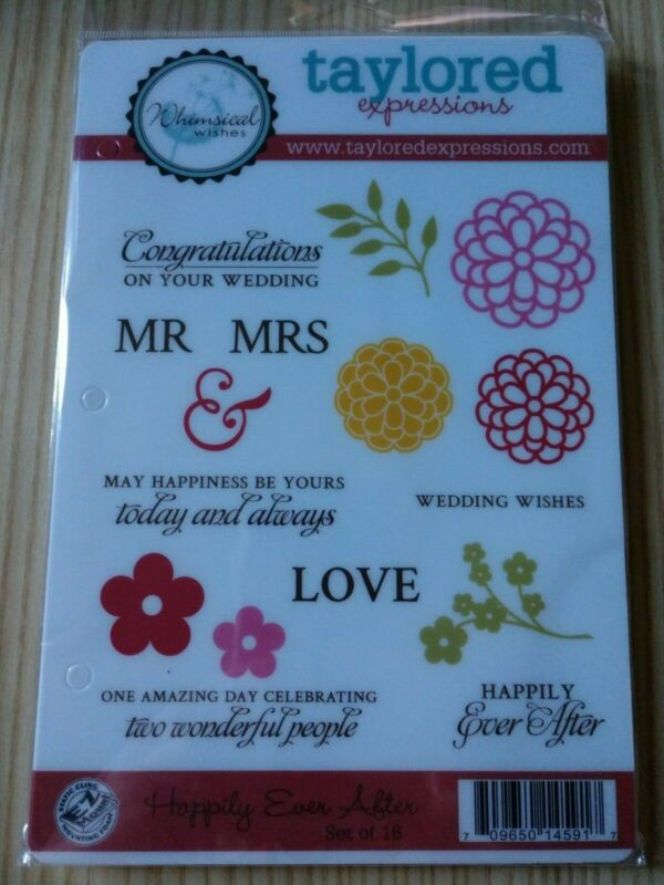Taylored Expressions ~ Happily Ever After Flowers Mr & Mrs Congratulations ~ M3 • 8.79$
