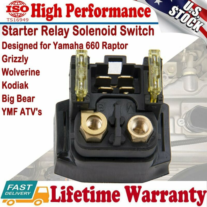 Starter Solenoid Relay For Yamaha Grizzly Raptor 660 YFM660 2002 2003 2004 2005 • 6.99$